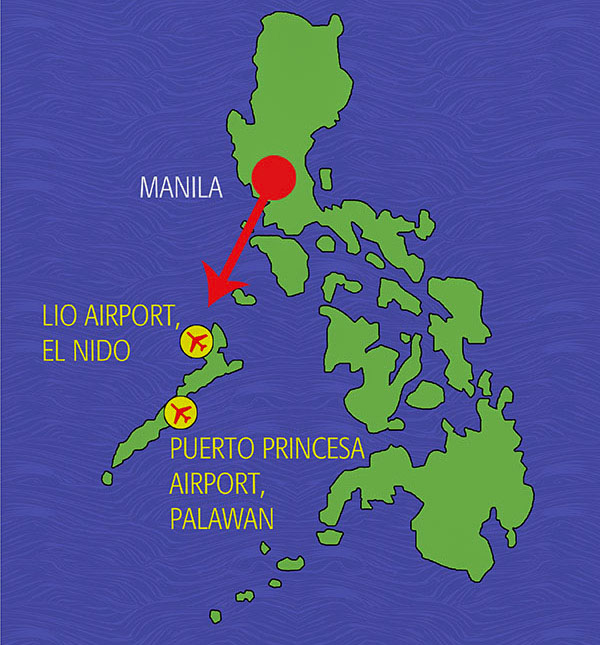 It's easy to get to the brand new Lio airport on Air Swift: just a 55-minute flight from Manila, with two or three flights daily. The runway is short, and the plane is small--but the aircrafts are new and not at all scary. Important tip: You get a discounted fare when you book through the resort.