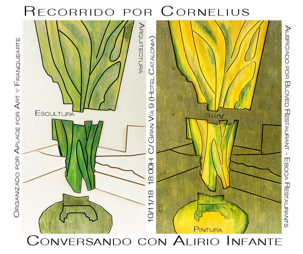 Franqueando la obra de Cornelius conversando con el gran maestro, artista plástico y escultor Alirio Infante