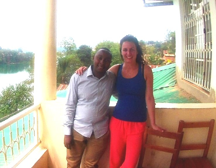 Christian and Caroline , Bukavu, September 2016.
