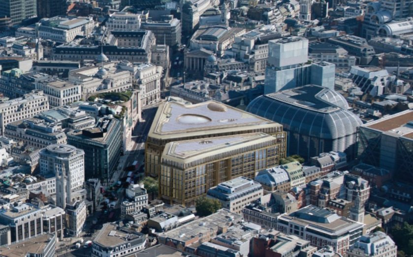 New Bloomberg building, London. Designed by Sir Norman Foster.