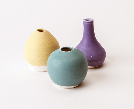 sarah martin yellow mauve  turquoise pots and bottles.jpg