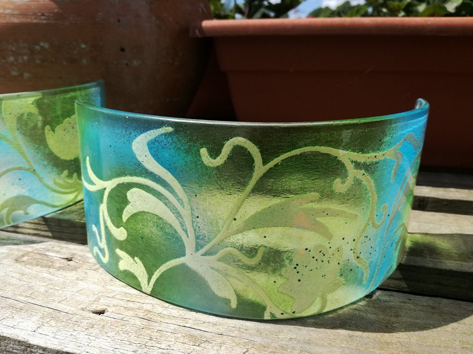 phaedra glass website - T-Light Arches Chrome Green_Aqua Floral.jpg