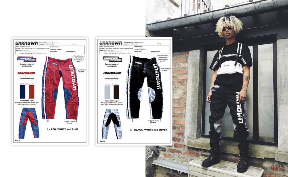 Product Development for Streetwear @Unknown London
