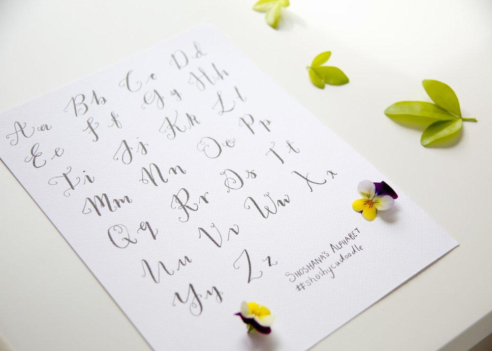 Hello beautiful modern calligraphy heat embossed greeting