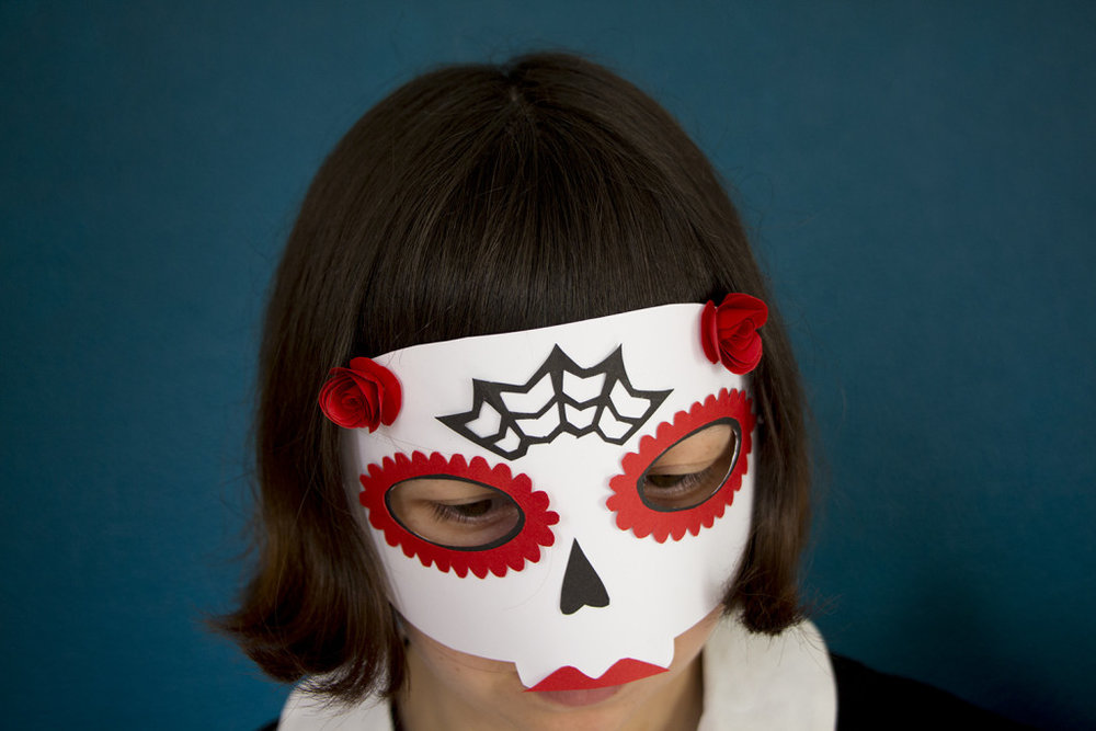diy halloween sugar skull mask by utensils0 london local team