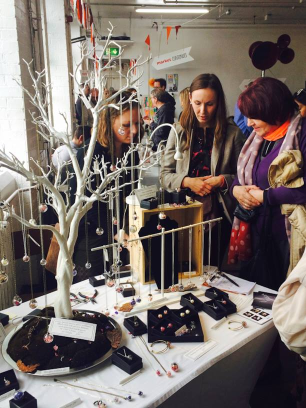 Lizzy selling at the Crafty Fox Spring Market, photo by Martha Loves