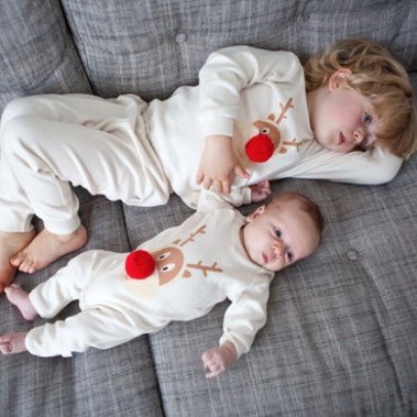 Sibling Christmas Pyjamas from PJ Mamma
