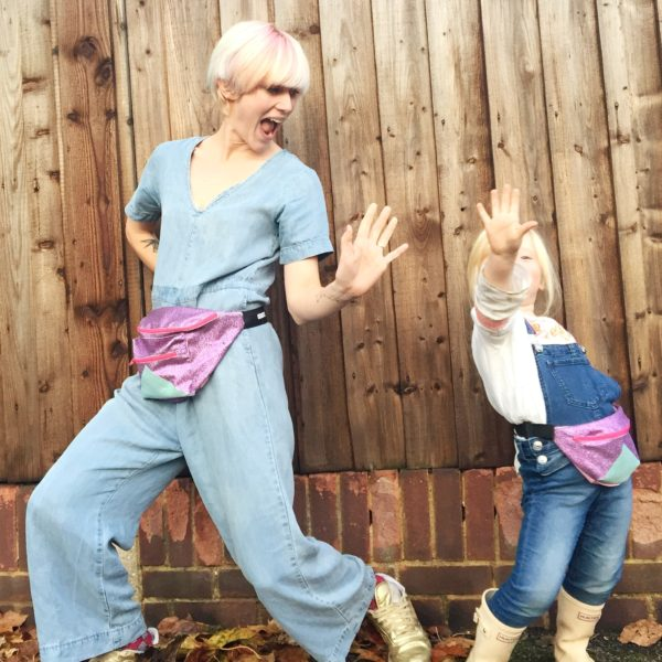 Twinning is winning, right? My daughter and I love rocking our sparkly bumbags. I'll have two sizes for grown ups, and one child/toddler size on sale at the LoLo market in a range of colours.