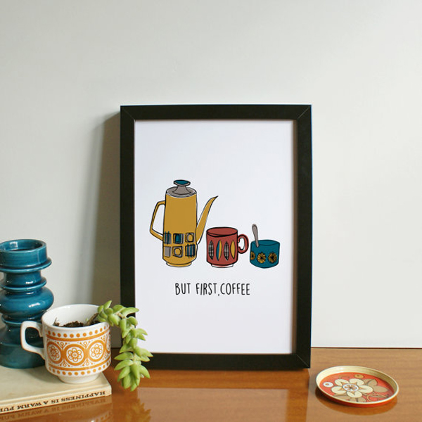 But first coffee print by WilkinsLucy