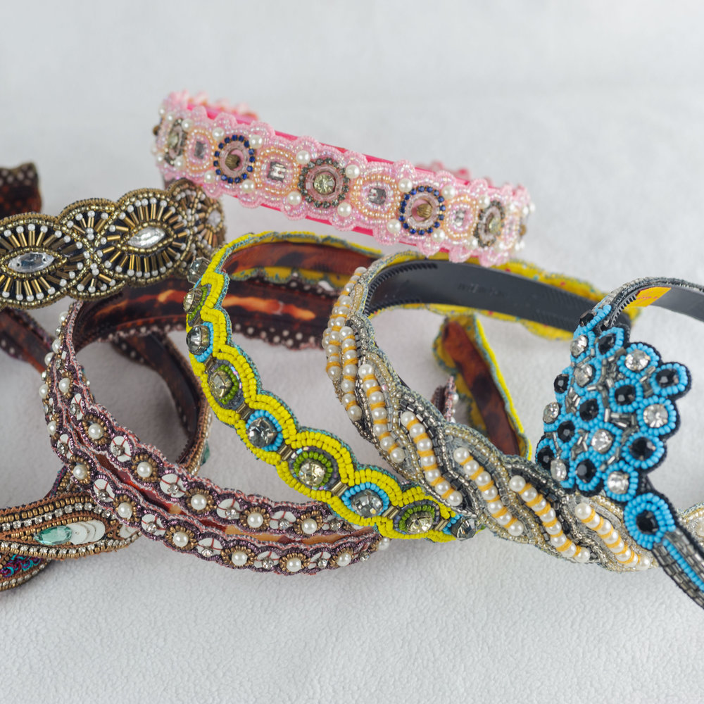 Intiricate Beaded Headband By  Zibby's !