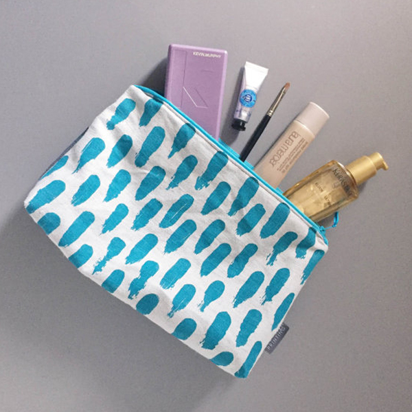 Hand screen printed washbag by SarahCapelPrinting