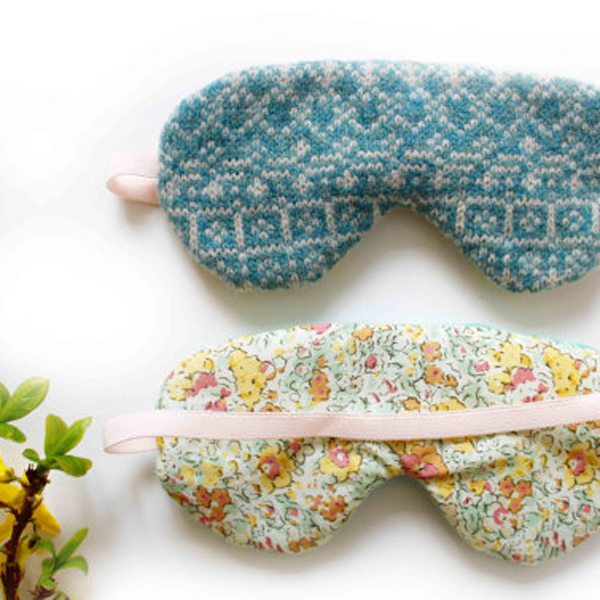 Knitted sleep mask by SuzieLeeKnitwear