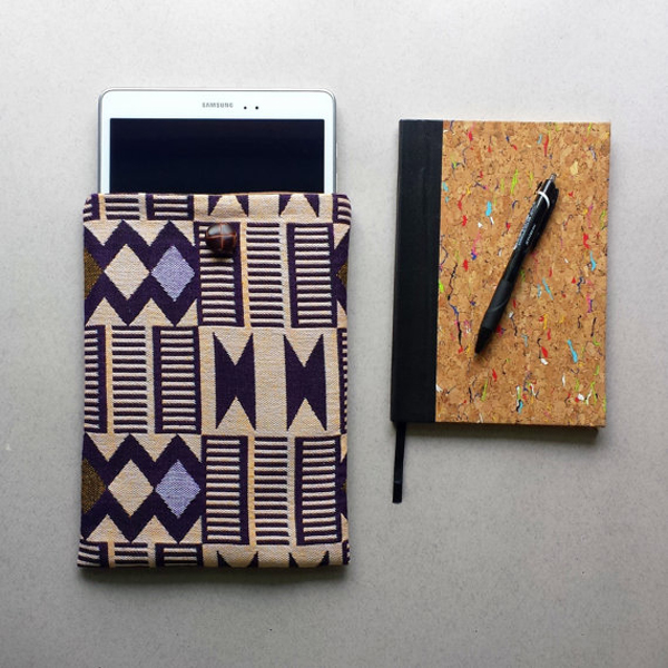 Kente fabric tablet case by JubellaLondon