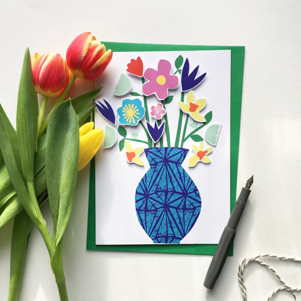 DIY cut out flower card by LittlePaperVee