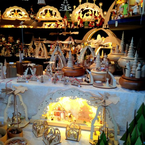 Schwibbögen and Pyramids at Leipzig Christmas Market