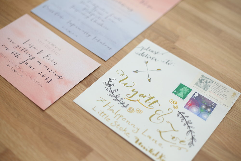 Modern calligraphy stationery by Shoshy Cadoodle®