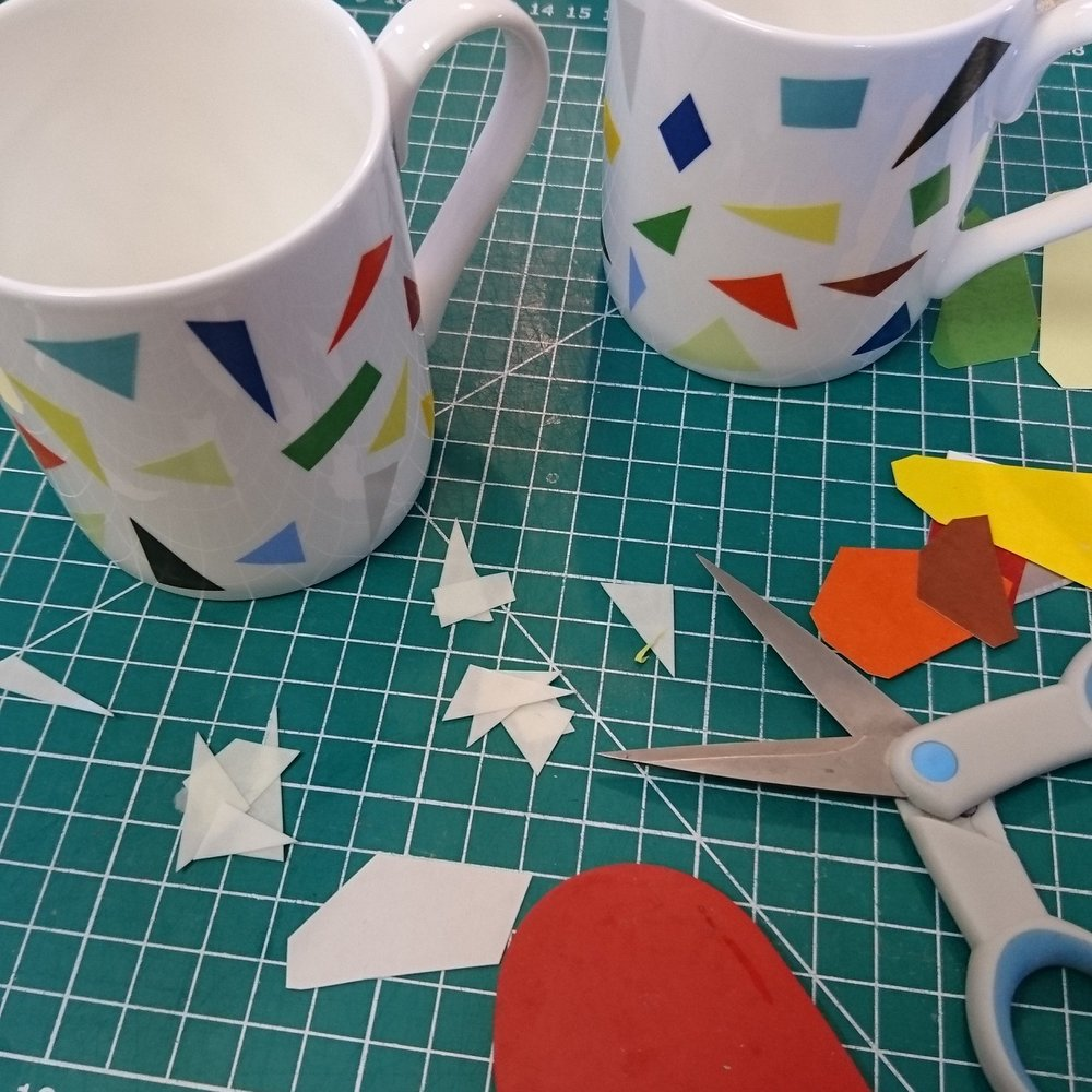 Decorating Confetti mugs