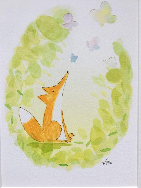 Spring fox print