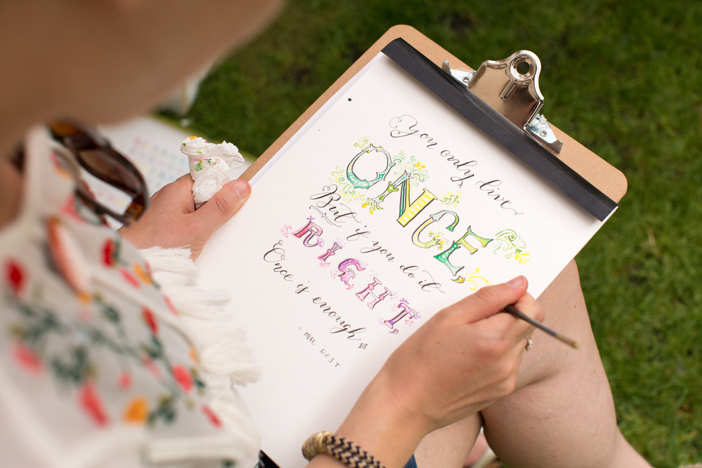 www.ShoshyCadoodle.etsy.com  Shoshy specialises in hand lettering, modern calligraphy and watercolours. She has a special range of LGBT cards. Photography by Luke Wolagiewicz for Etsy UK