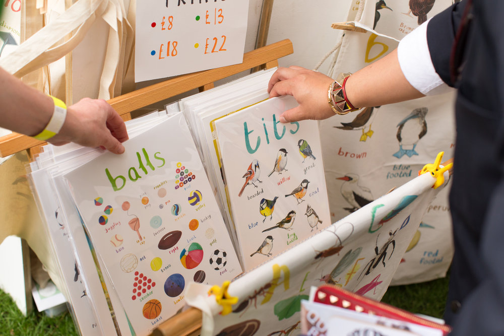 www.SarahEdmondsMarket.etsy.com  Sarah, a Sussex based illustrator, loves bright colours and puns! Photography by Luke Wolagiewicz for Etsy UK