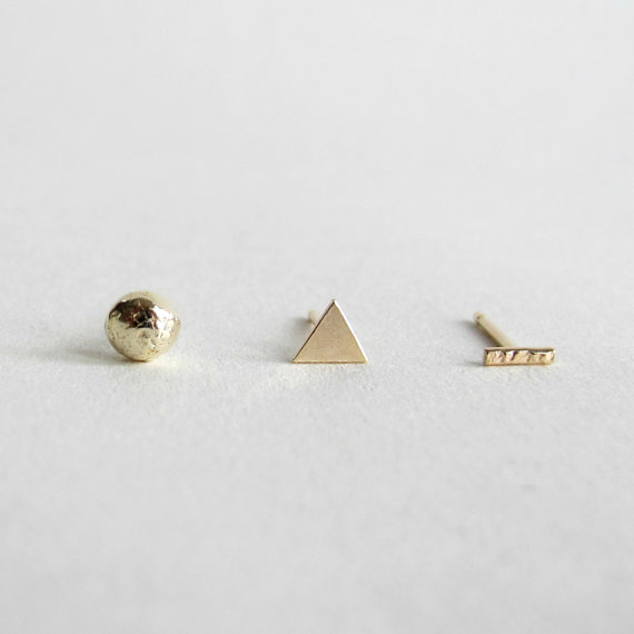 Eco-gold earrings by  Wild Fawn Jewellery