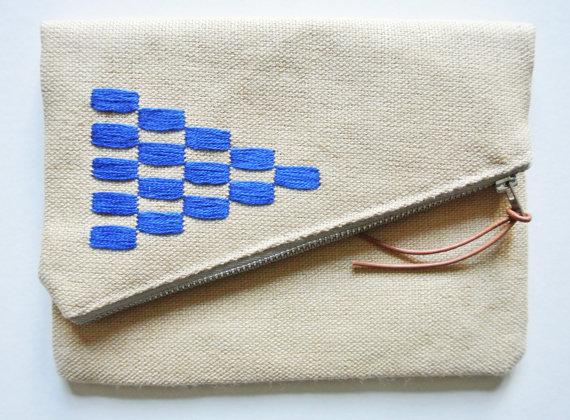 Fold-over clutch bag by  Zuzana Lalikova