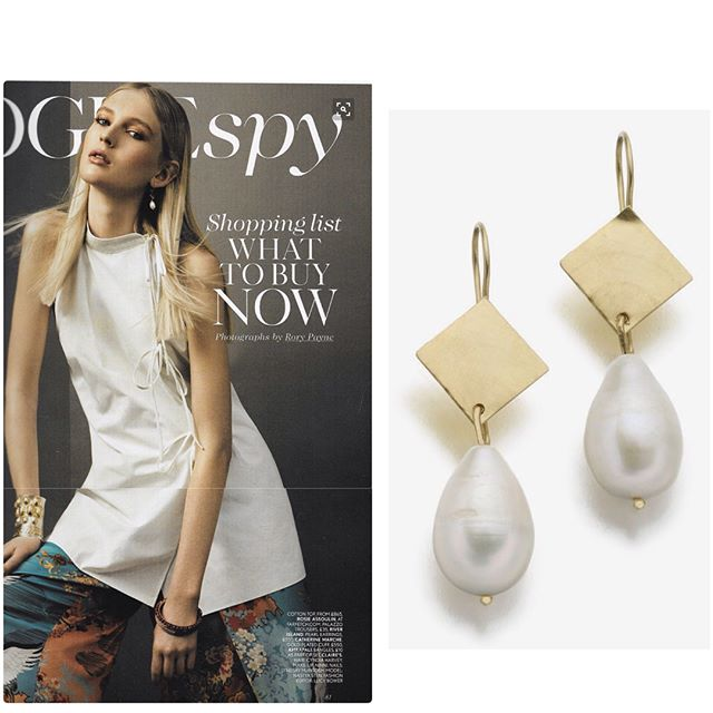 Baroque pearls and 18K gold earrings, as seen in Vogue © Catherine Marche