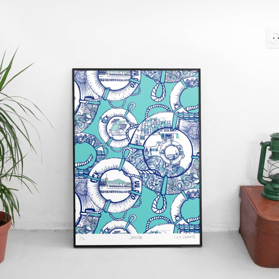 Seaside Giclee Art Print