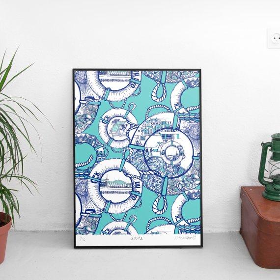 Seaside Giclee Art Print