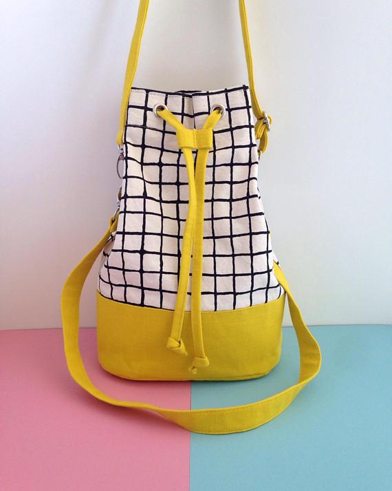 Screenprint Canvas Bucket Bag