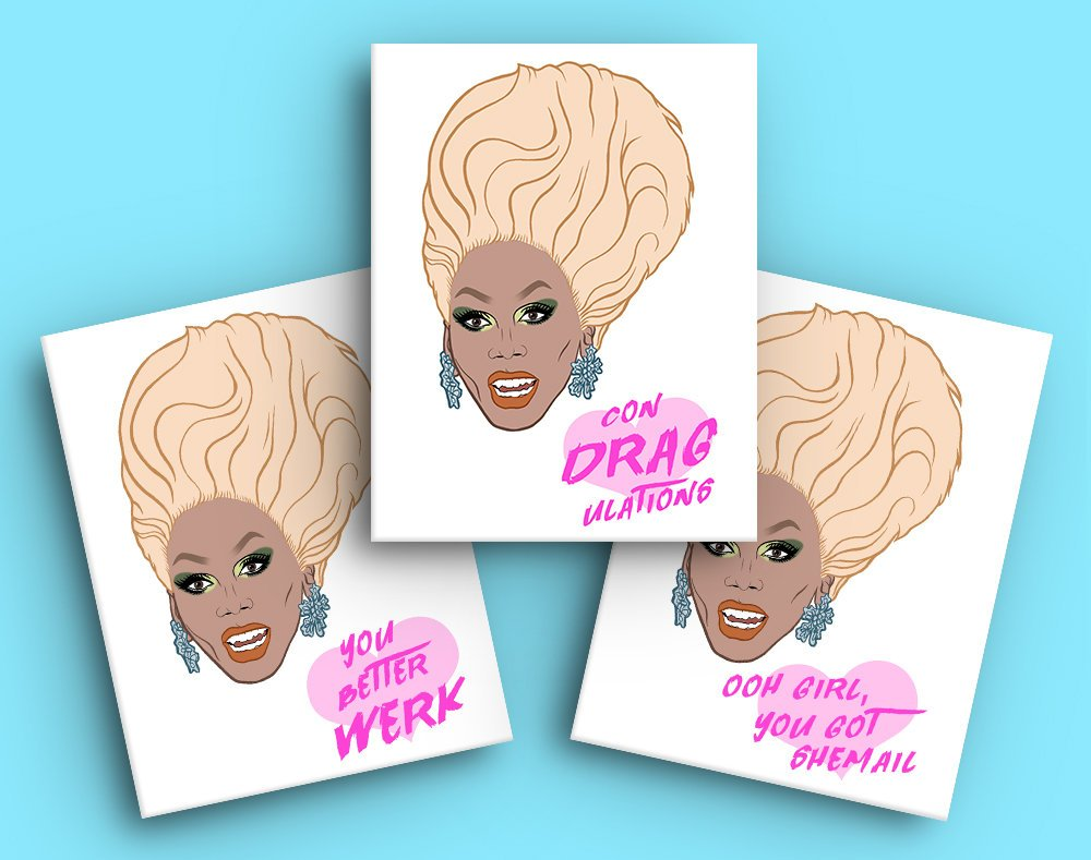RuPaul Greeting Card