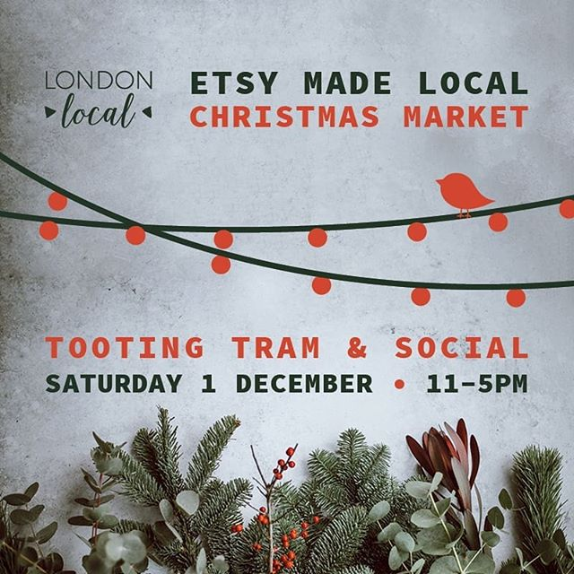 Today is the day! Pop down to @tootingtramandsocial until 5pm! Lots of amazing sellers and Christmas gifts! ⠀⠀⠀⠀⠀⠀⠀⠀⠀ Where: Tooting Tram and Social, 46-48 Mitcham Road, London SW17 9NA . @londonlocalteam @etsyUK @tootingtramandsocial . #LondonLocalTeam #etsy #EtsyMadeLocal #EtsyMadeLocalUK #LoLoMarket #EtsyMadeLocalTooting #handmadehour ⠀⠀⠀⠀⠀⠀⠀⠀⠀