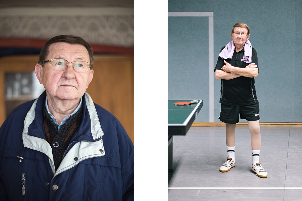 Georg Fitze, pensioner and table tennis enthusiast