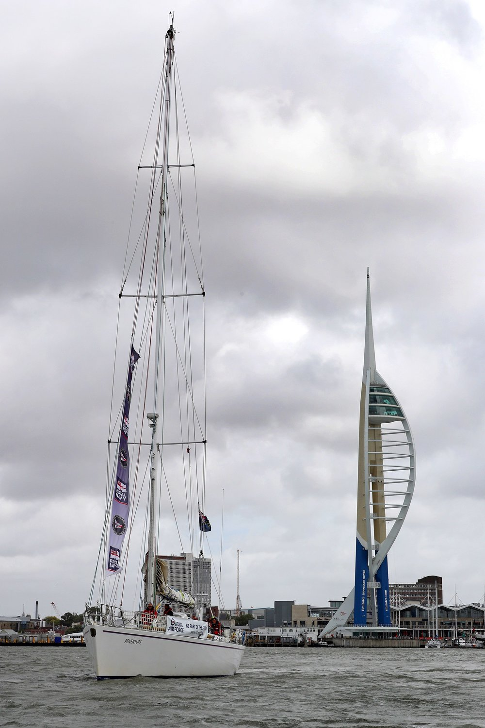 Military yachts return to Portsmouth from round-the-world adventure