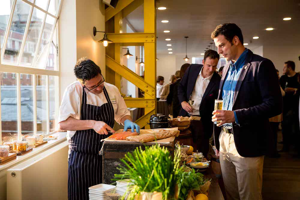 Guests sample some of the seasonal food on offer from Boathouse 4