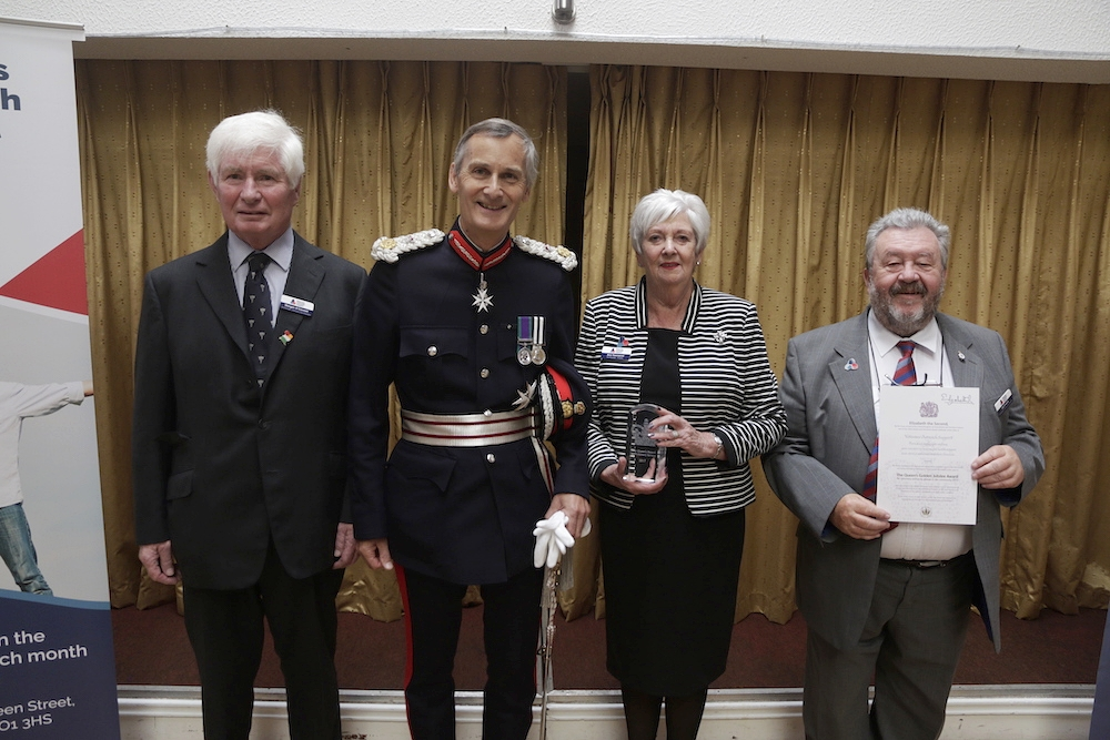 Founder members of VOS with Lord Lieutenant Nigel Atkinson.