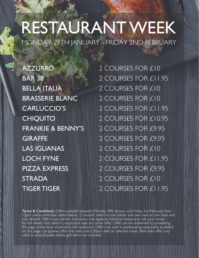 gunwharf restaurant week deals