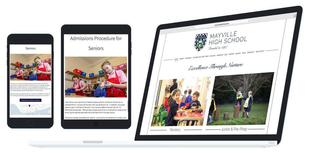 Mayville High School website design and build
