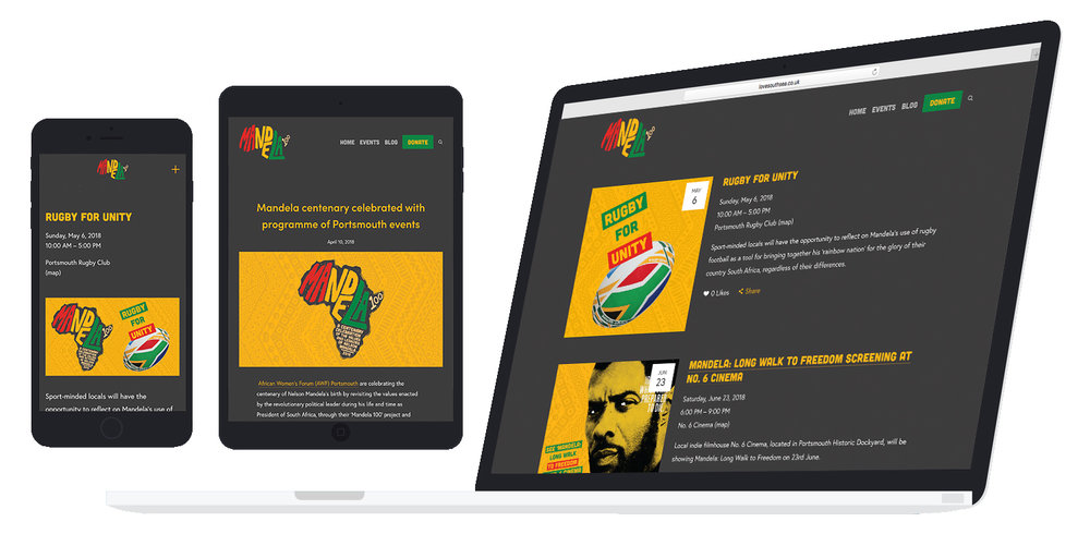 Mandela 100 website design and build