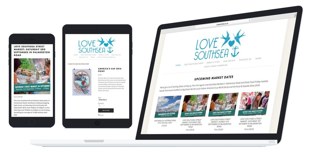 love southsea website design and build