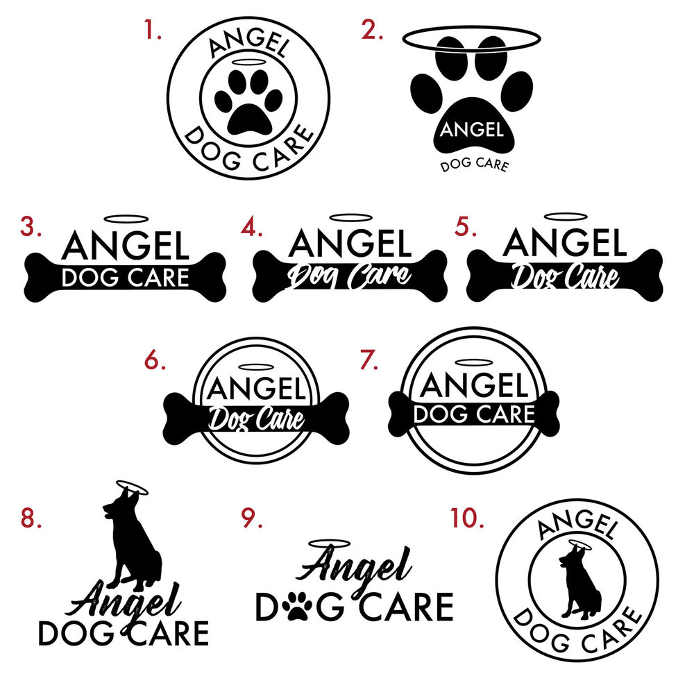 Angel Dog Care logo and branding design