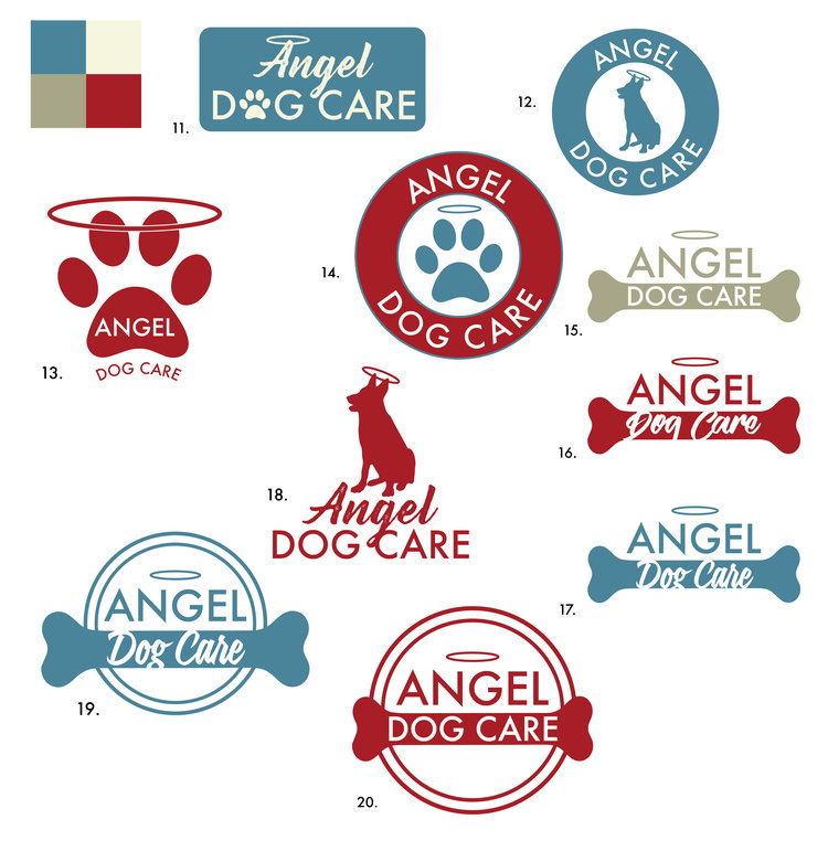 Angel Dog Care logo design and branding
