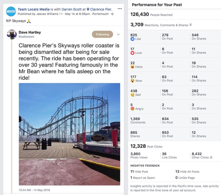 Increase business Facebook reach example 3
