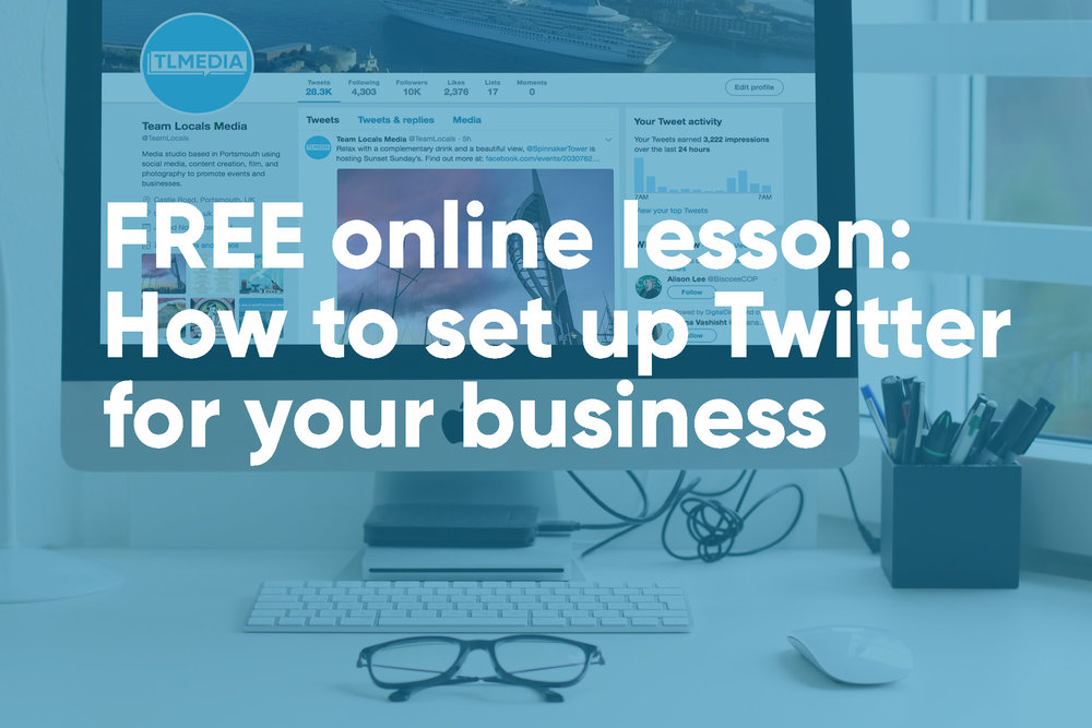 free lesson setting up twitter business