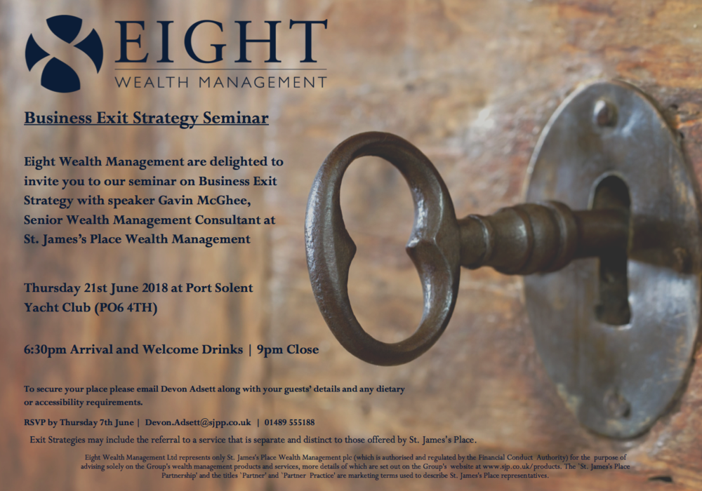 Business Exit Strategy Seminar with Eight Wealth Management