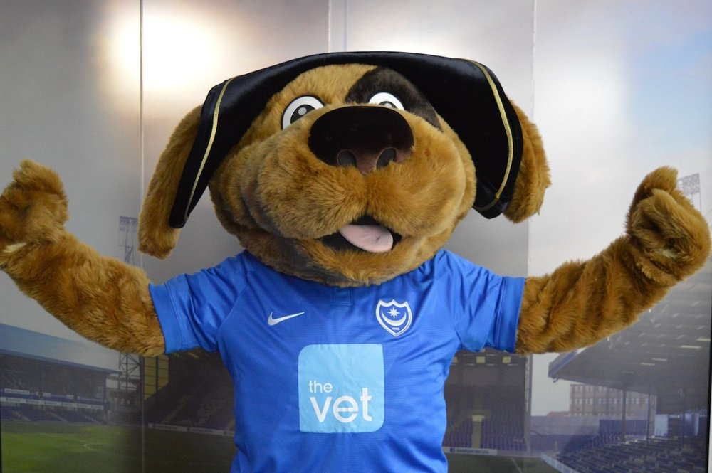 Pompey mascot teams up with The Vet