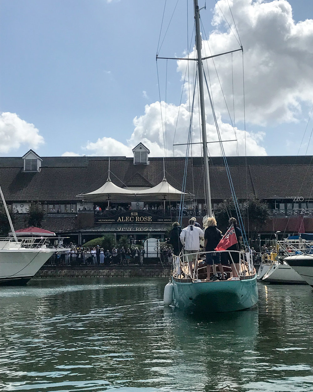Lively Lady returns to Port Solent