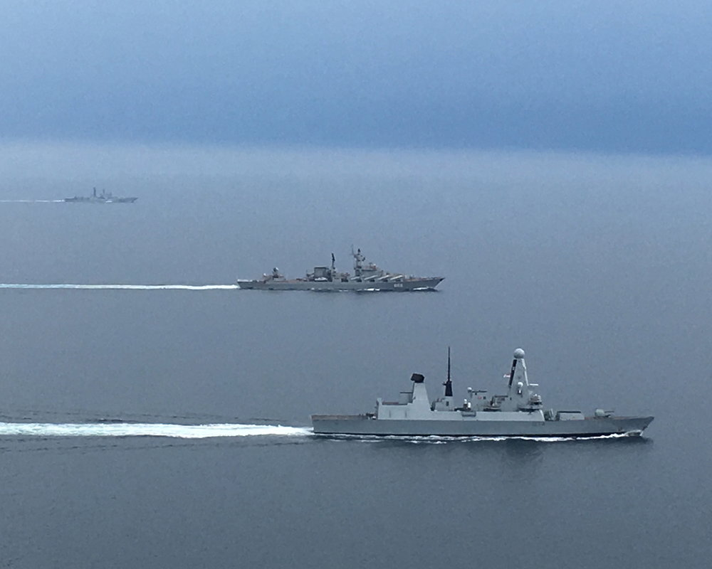 Portsmouth-based HMS Diamond Monitors Russian Warships