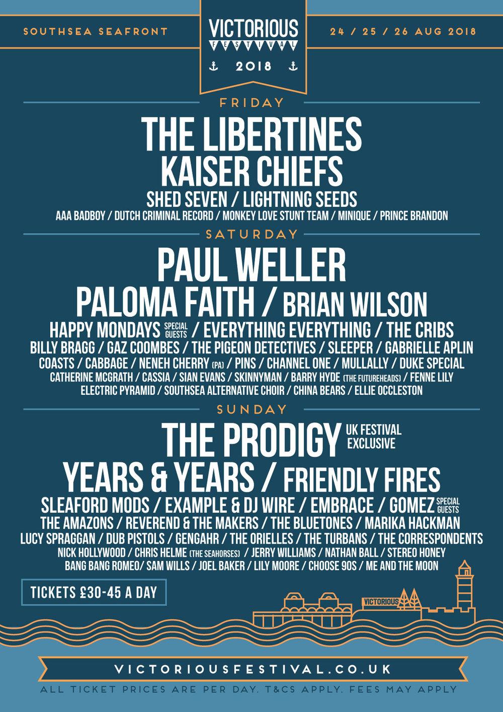 Victorious Festival Lineup 2018