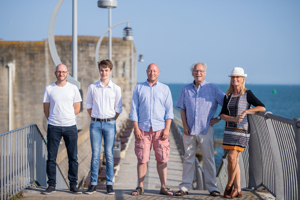 Members of Team Jeeni: (Ieft to right) Ricky Foyle, Alisdair Taylor, Andy Stagg, Mel Croucher, Shena Mitchell